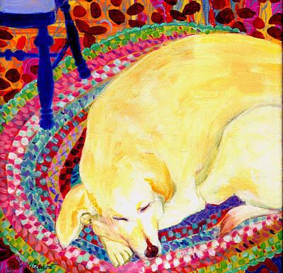 Rag Rug Painting - Sweet Dreams by Deborah Burow