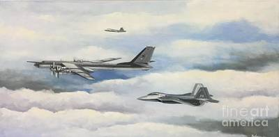 Usaf Painting - Old Dog Meets New Tricks by Stephen Roberson