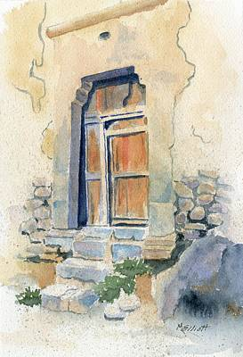 Peru Painting - Old Door In Cuzco Peru by Marsha Elliott