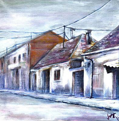 Eastern Europe Painting - Old Eastern European Street by Vanja Zogovic