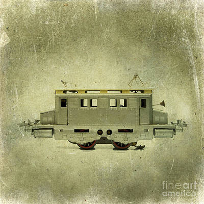 Outmoded Photograph - Old Electric Train by Bernard Jaubert