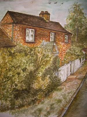 Old English Cottage Print by Teresa White
