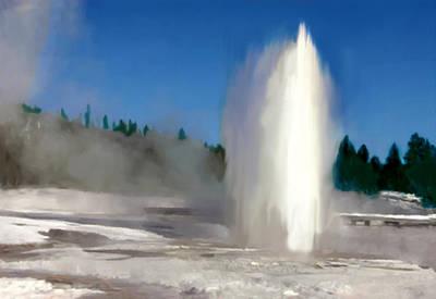 Old Faithful Gyser Yellowstone Original by Bob and Nadine Johnston
