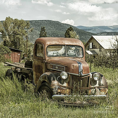 Old Faithful Truck Print by Terry Rowe