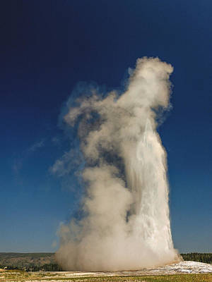 Old Faithful Yellowstone National Park Original by Bob and Nadine Johnston