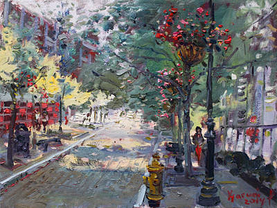 Fall Painting - Old Falls Street by Ylli Haruni