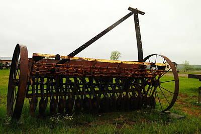 Old Farm Equipment Print by Jeff Swan