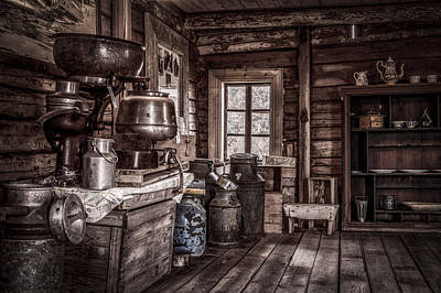 Rusted Barrels Photograph - Old Farm House by Erik Brede