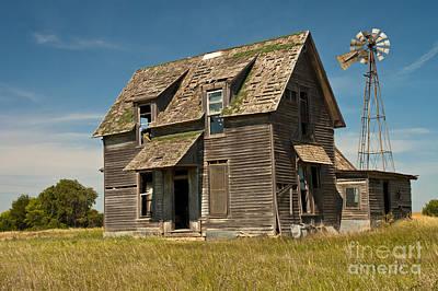 Old Farm House, Kansas Print by Richard and Ellen Thane