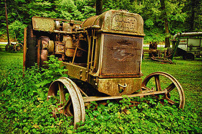 Old Farm Tractor Print by Sebastian Musial