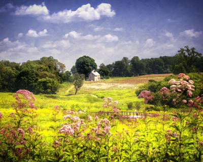 Farm Scene Photograph - Old Farmhouse At Longwood Gardens by Vicki Jauron