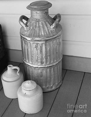 Old Milk Jugs Photograph - Old Fashion Milk Jug by David Millenheft
