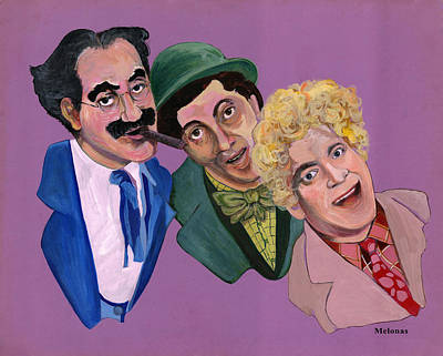 Groucho Marx Drawing - Old Fashioned Humor by Peter Melonas