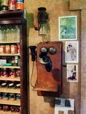 General Store Photograph - Old-fashioned Telephone by Susan Savad