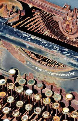 Pioneertown Photograph - Old Fashioned Typewriter Portrait by Kyle Hanson