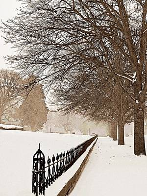 Winter Storm Photograph - Old Fashioned Winter by Chris Berry