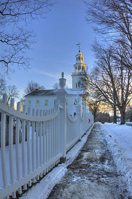 Winter In New England Photograph - Old First Church - Bennington Vermont by Joann Vitali