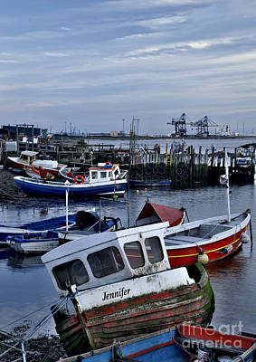Old Fishing Boats Print by Martyn Arnold