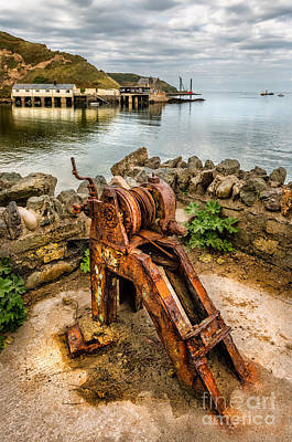 Old Fishing Port Print by Adrian Evans