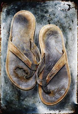 Old Flip Flops Print by Skip Nall