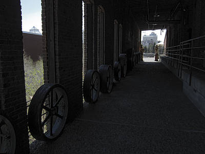 Old Flour Mill Corridor Print by Daniel Hagerman