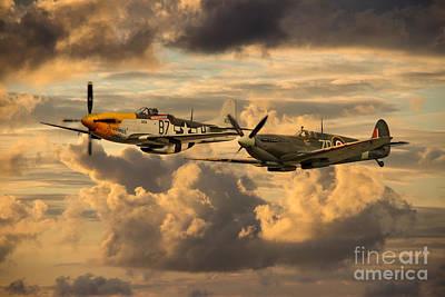 Mustang Digital Art - Old Flying Machines  by J Biggadike