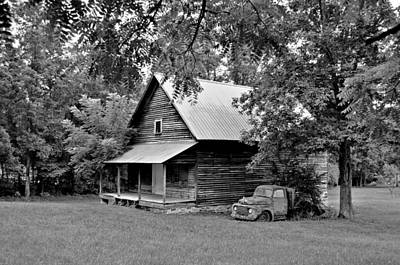 Old Ford And Cabin Print by Bob Jackson
