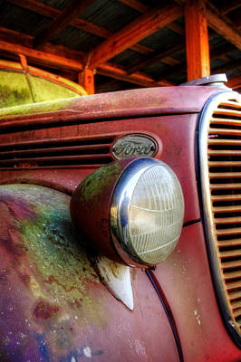 Old Trucks Photograph - Old Ford Fire Truck by Greg Mimbs
