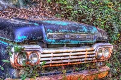 Homesickness Photograph - Old Ford Truck In Woods by Douglas Barnett