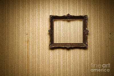 Pattern Photograph - Old Frame On Retro Wall by Michal Bednarek