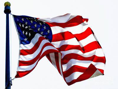 America The Beautiful Usa Print by Carol F Austin