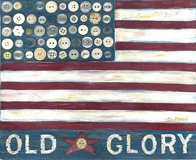 Old Glory Mixed Media - Old Glory by Carol Neal