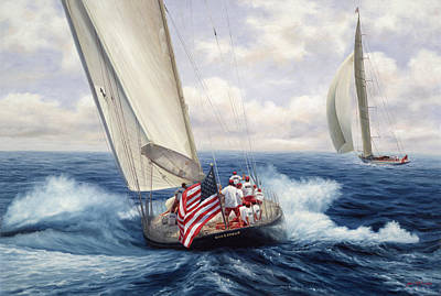 Old Glory - The Endeavor Print by Julia O'Malley-Keyes
