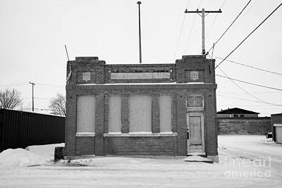 old government telephones telephone exchange building Kamsack Saskatchewan Canada Print by Joe Fox