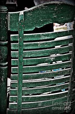 Old Green Chair Print by JW Hanley