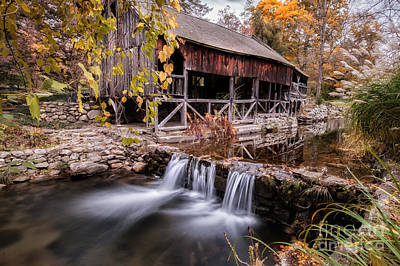 Old Grist Mill - Macedonia Connecticut  Print by Thomas Schoeller
