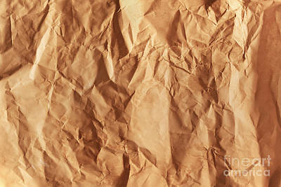 Old Grunge Creased Paper Texture. Retro Vintage Background Print by Michal Bednarek