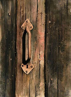 Locks Painting - Old Handle by Sam Sidders