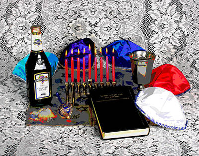 Hanukah Photograph - Old Hanukah Moment by Larry Oskin