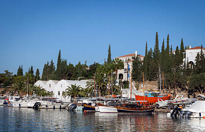 Habor Photograph - Old Harbour In Spetses Town by Paul Cowan