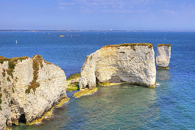 Sea View Photograph - Old Harry Rocks - Purbeck by Joana Kruse