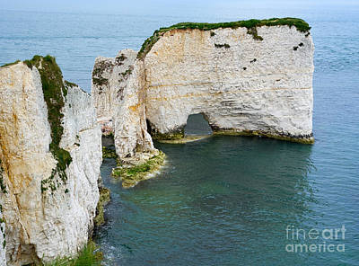 Seascape Photograph - Old Harry Rocks On The Jurassic Coast In Dorset by Louise Heusinkveld