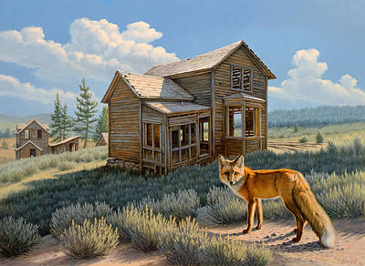 Ghost Town Painting - Old Haunts  by Paul Krapf