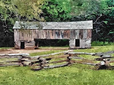 Old Hay Barn Print by John Trommer