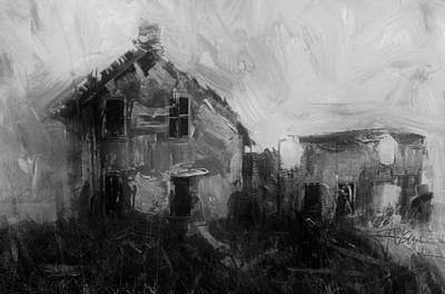 Rural Decay Mixed Media - Old House At Stirling by Jim Vance