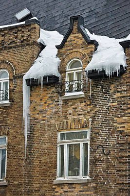 Quebec Houses Photograph - Old House Covered With Snow, Quebec by Keren Su