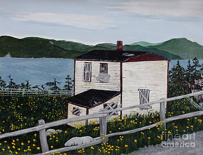 Old House - If Walls Could Talk Print by Barbara Griffin