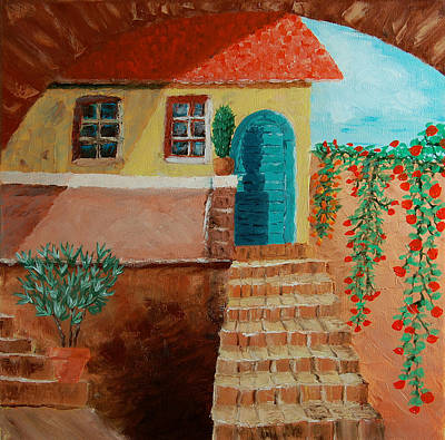 Oleanders Painting - Old House In Tuscany by Peter Kallai