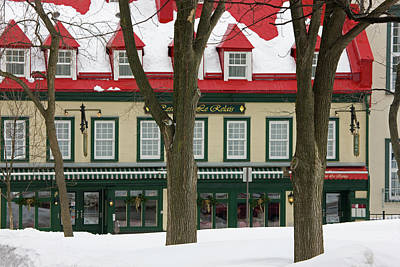 Quebec Houses Photograph - Old Houses Covered With Snow, Quebec by Keren Su