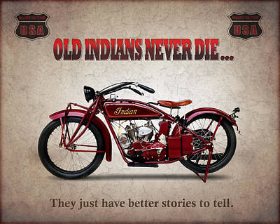 Indian Photograph - Old Indians Never Die by Mark Rogan